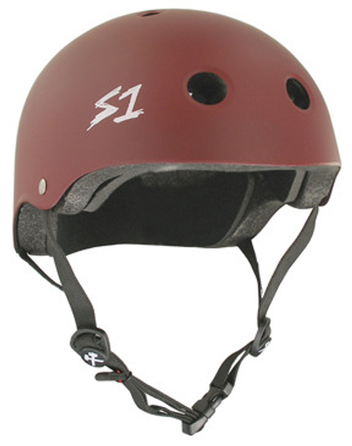 S-One Helmets -  S1 Lifer Certified Multiple Impact - Maroon Matte s one