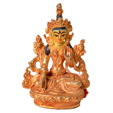 Gold Pated White Tara