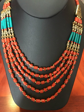 Tibetan Corol Necklace