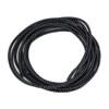 Stretch Elastic Shoelaces Curled Black