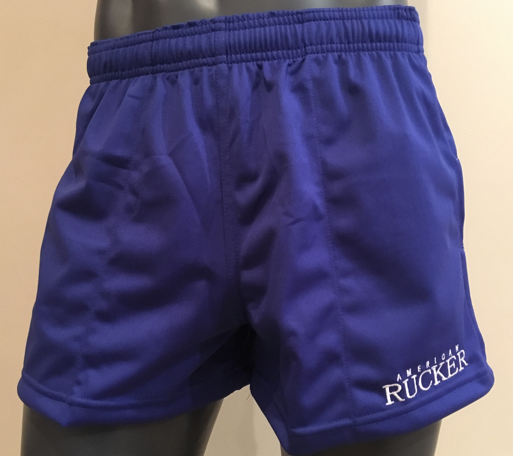 American Rucker Royal Blue Rugby Shorts  - Men - Women