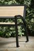 6' Modena Bench with Backrest