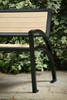 5' Modena Bench with Backrest