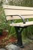 Public Park Bench with Armrest