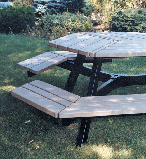 Hexagonal Nicolet Picnic Table - Close Up