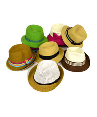 72pc Assorted Prepack Fedora Brim Hats HAP72-1