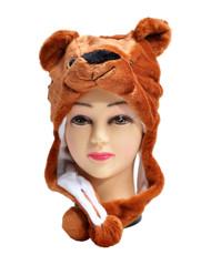6pc Pre-Pack Animal Fleece Hats - Brown Bear HATCW111460