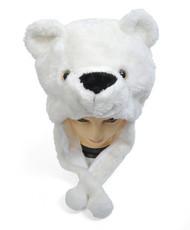 6pc Pre-Pack Animal Plush Hat - Polar Bear HATC2110