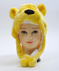 6pc Pre-Pack Animal Plush Hat - Golden Bear HATC1090
