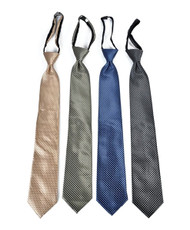 Men's Micro Woven Regular/X-long Zipper Ties - MPWZ4721