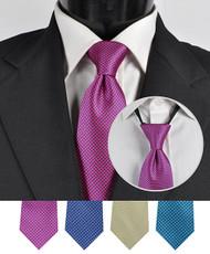 Men's Micro Woven Zipper Ties - MPWZ4610