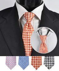 Men's Micro Woven Zipper Ties - MPWZ4613
