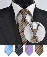 Men's Micro Woven Zipper Ties - MPWZ4614