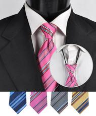 Men's Micro Woven Zipper Ties - MPWZ4615