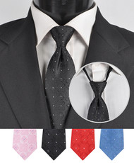 Men's Micro Woven Zipper Ties - MPWZ4616