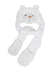 6pc Pre-Pack Animal Hats With Paw - White Tiger AHP2011