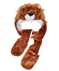 6pc Pre-Pack Animal Hats With Paw - Lion AHP2014