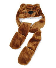 6pc Pre-Pack Animal Hats With Paw - Brown Bear AHP2015