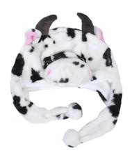 6pc Pre-Pack Animal Fleece Hats - Cow HATC2130