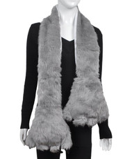 Animal Faux Fur Scarf With Paw AHP1000