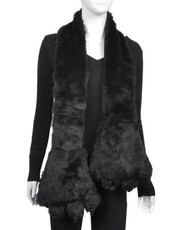 Animal Faux Fur Scarf With Paw AHP1020