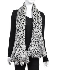 Animal Faux Fur Scarf With Paw AHP1080