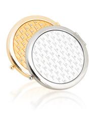 Round Compact Makeup Magnifying Mirror with Color Crystals S462