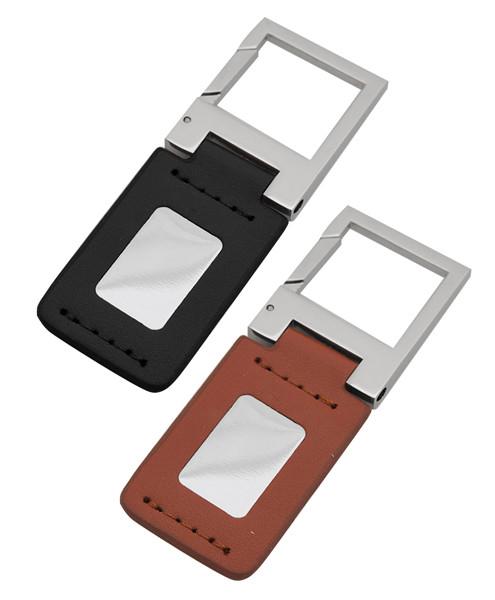 12 pc Assorted Leather Block Zinc-Alloy Clip Keychain K1170