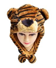 6pc Pre-Pack Animal Fleece Hats - Brown Tiger HATCW111330