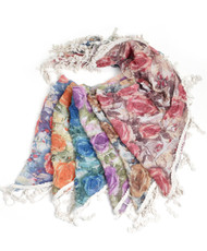 Triangle Viscose Fringed Scarf LS3630