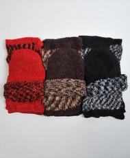 Knit Acrylic Cap and Scarf 2pc Set WNTSET35