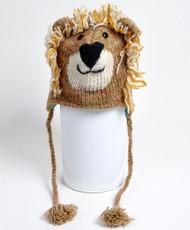Wool Animal Hats Lion - AHW008