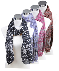Women's 12pcs Assorted Polyester Scarf LS3340