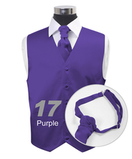 """""""Purple"""" Poly Solid Satin Cravat FC1701-17"""