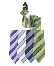 Microfiber Poly Woven Clip-On Tie - Men's 2004 MPCL2004