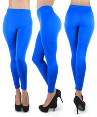 12pc 100% Poly Stretch Leggings Aqua Blue L0639