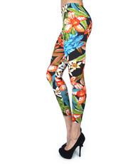 12pc Ladies Footless Printed Leggings - L8005