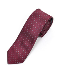 "2.5"" Slim Microfiber Woven Slim Tie MPWS603RD"