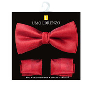 Boy's Fancy Bow Tie and Hanky Set BFTH3016