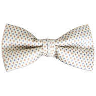 Men's Poly Woven Banded Bow Tie FBB3036