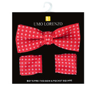 Boy's Fancy Bow Tie and Hanky Set BFTH3015