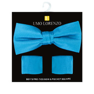 Boy's Fancy Bow Tie and Hanky Set BFTH3031