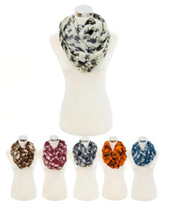 12 Pcs Assorted Viscose Infinity Scarf LS4420IF