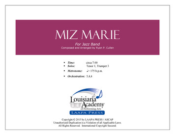 Miz Marie - for Jazz Band (Score/Parts - PDF)