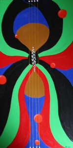 """Butterflied Guitar Strings'"" - Guitar Art"