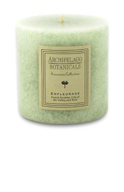 """Archipelago Excursion Collection Enfleurage 3.50"""" x 3.50"""" Pillar Candle"""