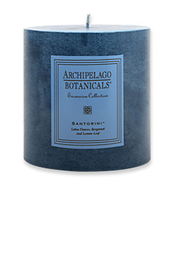 "Archipelago Excursion Collection Santorini 3.50"" x 3.50"" Pillar Candle"