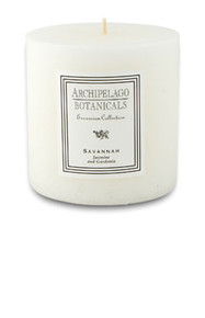"Archipelago Excursion Collection Savannah 3.50"" x 3.50"" Pillar Candle"