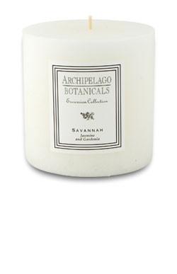 "Archipelago Excursion Collection Savannah 3.50"" x 3.50"" Pillar Candle"