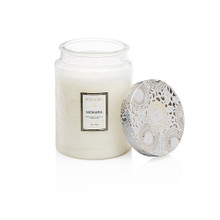 Voluspa Japonica Collection Mokara Limited Edition Large Embossed Glass Jar Candle